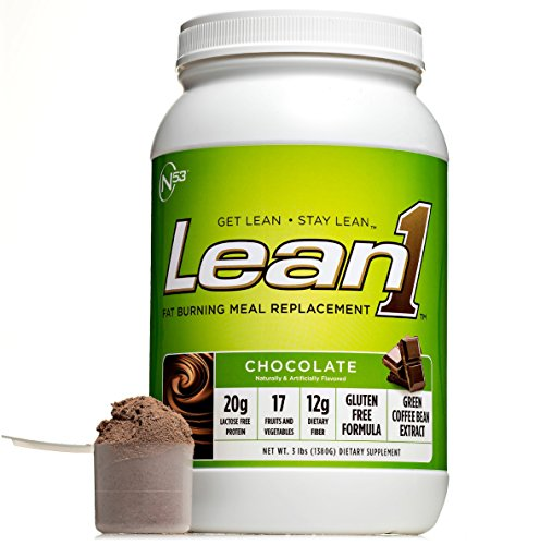 (Nutrition 53 Lean1 Chocolate, Lactose Free Protein Powder, 23 Serving Tub, 43 Ounce.)
