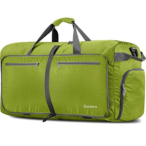 Gonex 150L Travel Duffel Bag Foldable Extra Large Duffle Bag XL Heavy Duty for Men Women for Luggage Shopping Fruit Green