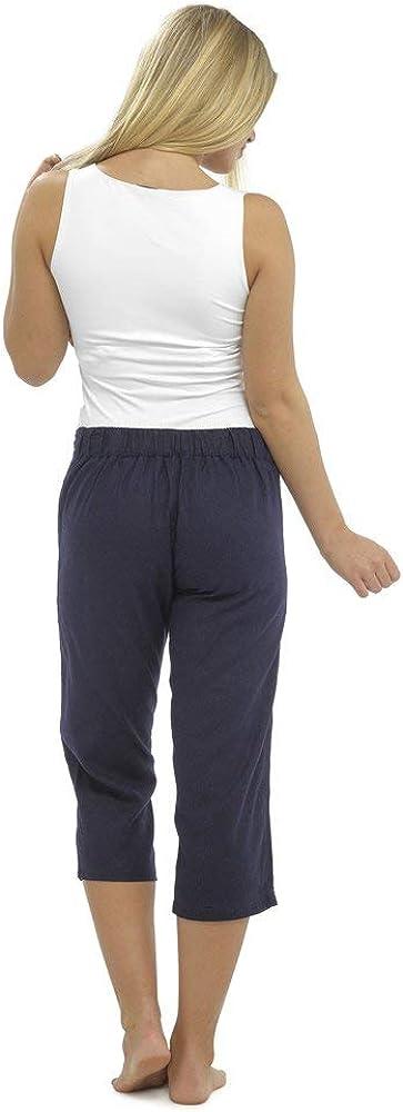 CityComfort Pantaloni Casual Donna in Lino Elegante con Elastico in Vita Pantalone Estivo con Tasche per Vacanze Lavoro