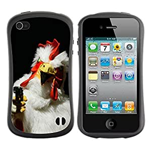 fashion Case for Apple iPhone 6 plus 5.5 for kids / Rooster With A Gun