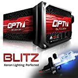 OPT7 Blitz 35w 9007 Hi-Lo HID Kit - 3.5X Brighter - 4X Longer Life - All Bulb Colors and Sizes - 2 Yr Warranty [6000K Lightning Blue Xenon Light]