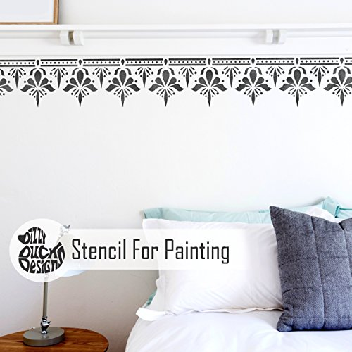 (Sagar Border Wall Furniture Floor Stencil for Painting S)