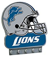 "NFL Detroit Lions My Key Rack, 8.5"" x 7.75"", Gray"
