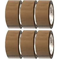 Bruine verpakkingstape - Geluidsarme verpakkingstape 6 rolpakket 48 mm x 60 m (196 ft x 1,89 inch)