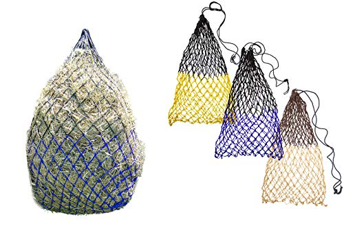 """Derby Originals 42"""" Superior Slow Feed Soft Mesh Poly Rope Hanging Hay Net with 2x2"""" Holes"""