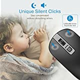 VicTsing 4-Button Slim Silent Wireless Mouse,3 Adjustable CPI Levels,Silent Click with USB Nano Receiver and ON-OFF Switch for PC, Laptop, Computer and Mac,Black