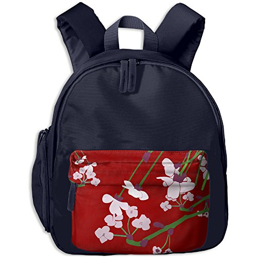 Yuhua Watercolor Flower Stem Lightweight School Backpack Daypack Rucksack For Kids