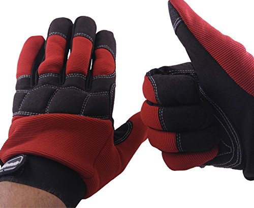 MECHANIC GLOVES For Working On Cars - Work Safety Gloves Protect Fingers And Hands - Large Size Fits Most Men, 1 Pair by RevHeads (Image #6)