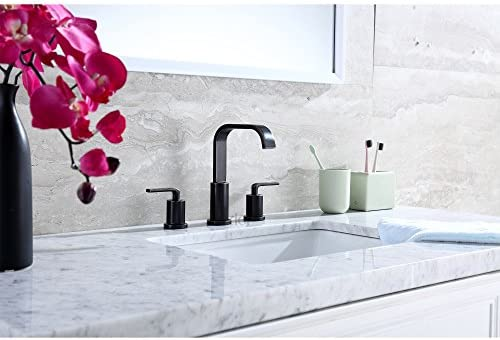 Luxier WSP03-TO Contemporary Bathroom Vanity Sink Widespread Lavatory Faucet cUPC NSF AB 1953 Lead Free Oil Rubbed Bronze