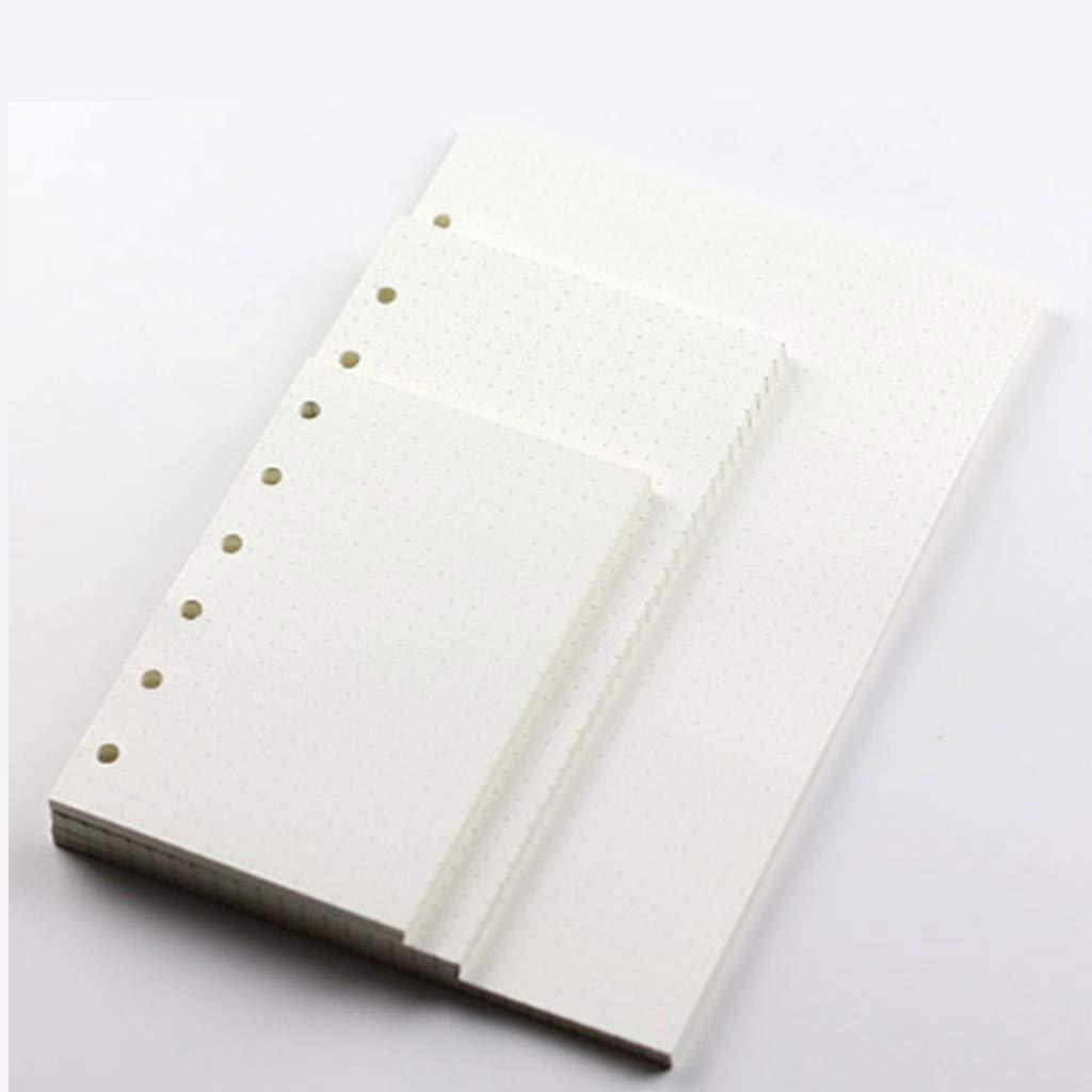 Lvcky A76-ring Binder planner refill Paper file fogli mobili computer Paper (1pezzi 45fogli/90PAGES) Standard puntini bianco stile libro per quaderni diari Diaries inserti