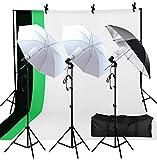 Photo Studio Double Off Camera Speedlight Flash Umbrella Kit, Photography Tripod Brackets for Photography Photo Video Studio Lighting Flash Translucent White Soft Umbrella