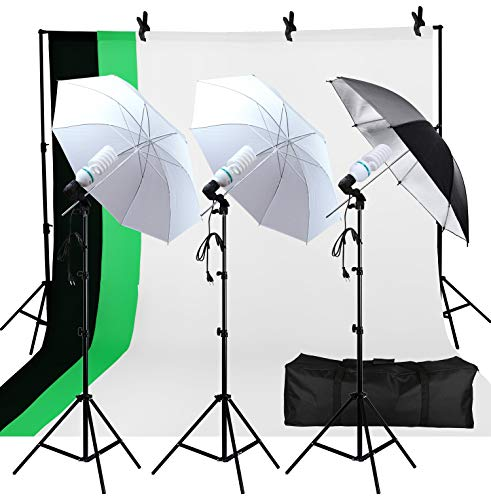 Photo Studio Double Off Camera Speedlight Flash Umbrella Kit, Photography Tripod Brackets for Photography Photo Video Studio Lighting Flash Translucent White Soft Umbrella from YC°