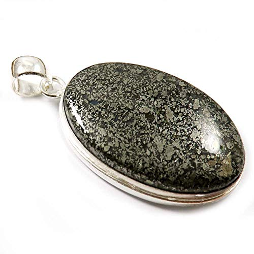 GoyalCrafts Silver Plated Fashion Jewelry, Natural Marcasite Awesome Gemstone Pendant GPN-58