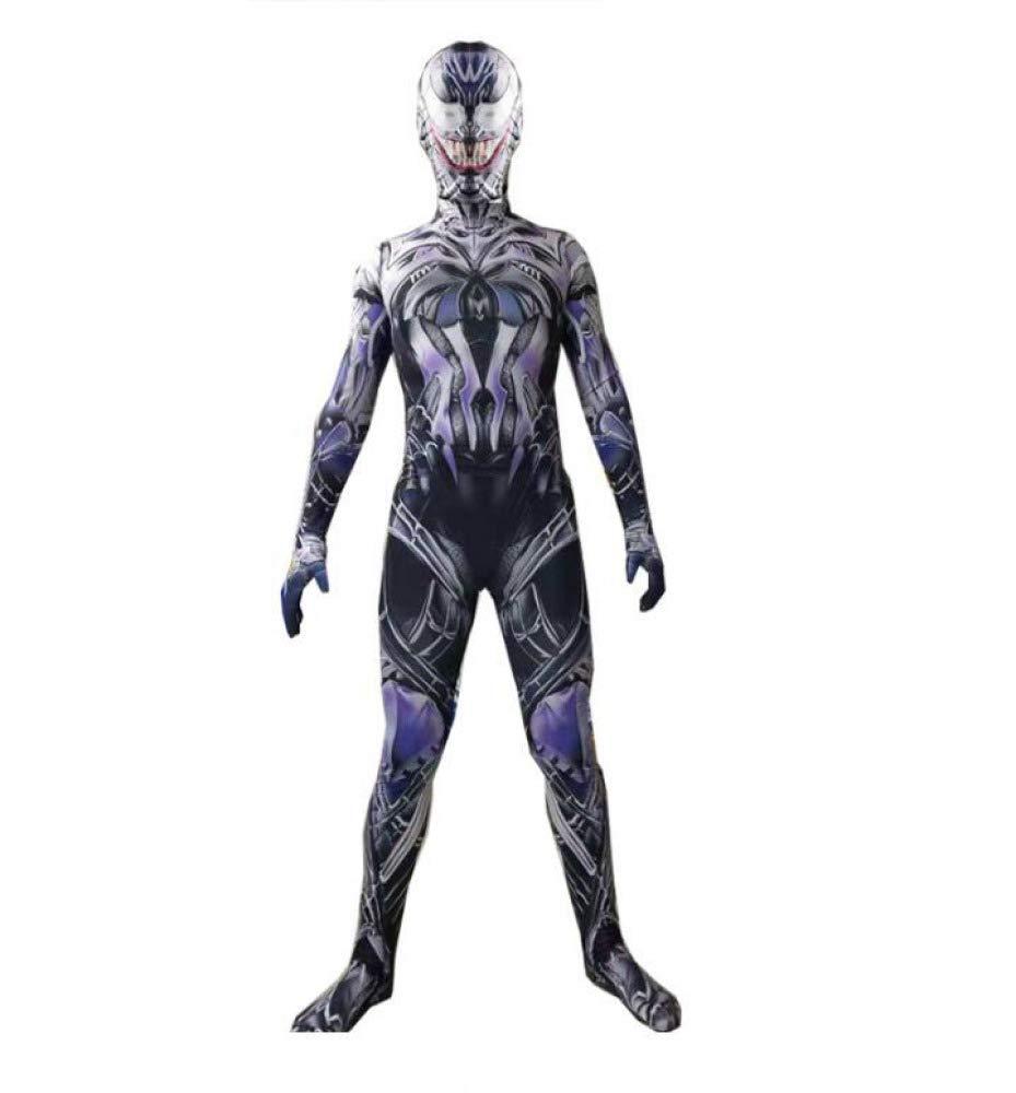 KOUYNHK Symbiote Spiderman Venom Costume Traje De Niños Mono Máscara Niños Año Nuevo Cosplay Disfraces De Halloween para Hombres Superhéroes ...