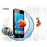 iPhone se/5S/5C/5Protector de visualización, hotbin Balísticos [3-Pack] vidrio templado, Premium–Protector de visualización para Apple iPhone 5/5S/5C/4S/4/se, Transparente