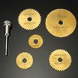 6 Pieces HSS Circular Saw Blades Set Titanium Coated Saw Blades for Dremel Rotary Tools