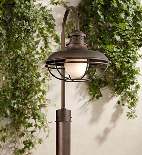 Franklin Park Vintage Outdoor Post Light Oil Rubbed Bronze Open Cage 23 1/2