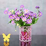 XiYunHan Geometry Flower Pot, Iron Art Glass Hydroponics Vase Container With Handle Heart-shaped Creativity Suspension Vase Barbed Flower Basket Plant Stand Wall Decoration Ornaments Home Bracket