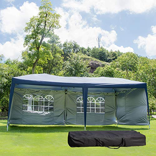 10 x 20 ft Pop Up Outdoor Party Tent with Removable Sidewalls EZ Easy with Carrying Case/Bag...