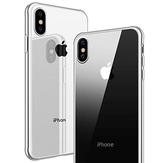 newest 36b62 69809 VUP iPhone Xs Max Clear Case, Reinforced Corner Protection Bumper ...