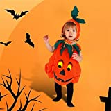Luerme Unisex Kids Pumpkin Costume Halloween Party Outfit Clothes (2-3 years)