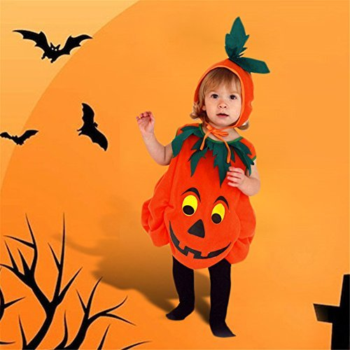 Luerme Unisex Kids Pumpkin Costume Halloween Party Outfit Clothes (2-3 years) by Luerme