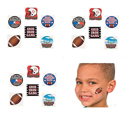 12 Dozen (144) Fun Football Temporary Tattoos ~ Party Favors ~ Goody Bags ~ Classroom Student -