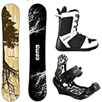 aa59eb54c7e1 Camp Seven Roots CRC Snowboard and APX Men s Complete Snowboard Package  (159 cm