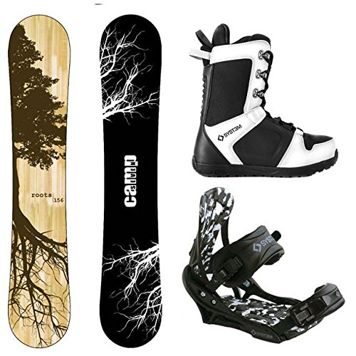 Camp Seven Roots CRC and APX Complete Men's Snowboard Package (163 cm Wide, Boot Size 13)