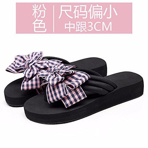 Onorevoli flip FLYRCX fashion clip e bow estate ciabattine skid outdoor dolce flop sandali anti spiaggia gTda7rT