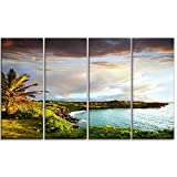 Designart Hawaii Oahu Island Photography on Canvas Art Wall Photgraphy Artwork Print