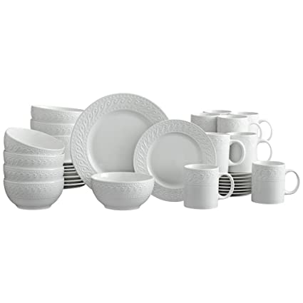 Pfaltzgraff Sylvia 32 Piece Dinnerware Set Service for 8 White  sc 1 st  Amazon.com : texas star dinnerware - pezcame.com