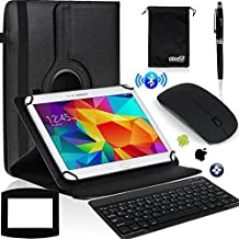 EEEKit 6in1 Office Kit for 10 Inch Tablet Lenovo TAB2 A10 10.1 inch Tablet/Google Nexus 10/NeuTab 10.1 inch,Rotaty Case Cover,Wireless Bluetooth Keyboard/Mouse