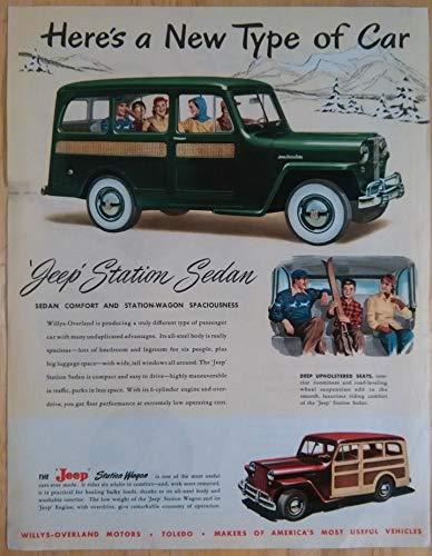 (1948 WILLYS JEEP STATION SEDAN & STATION WAGON