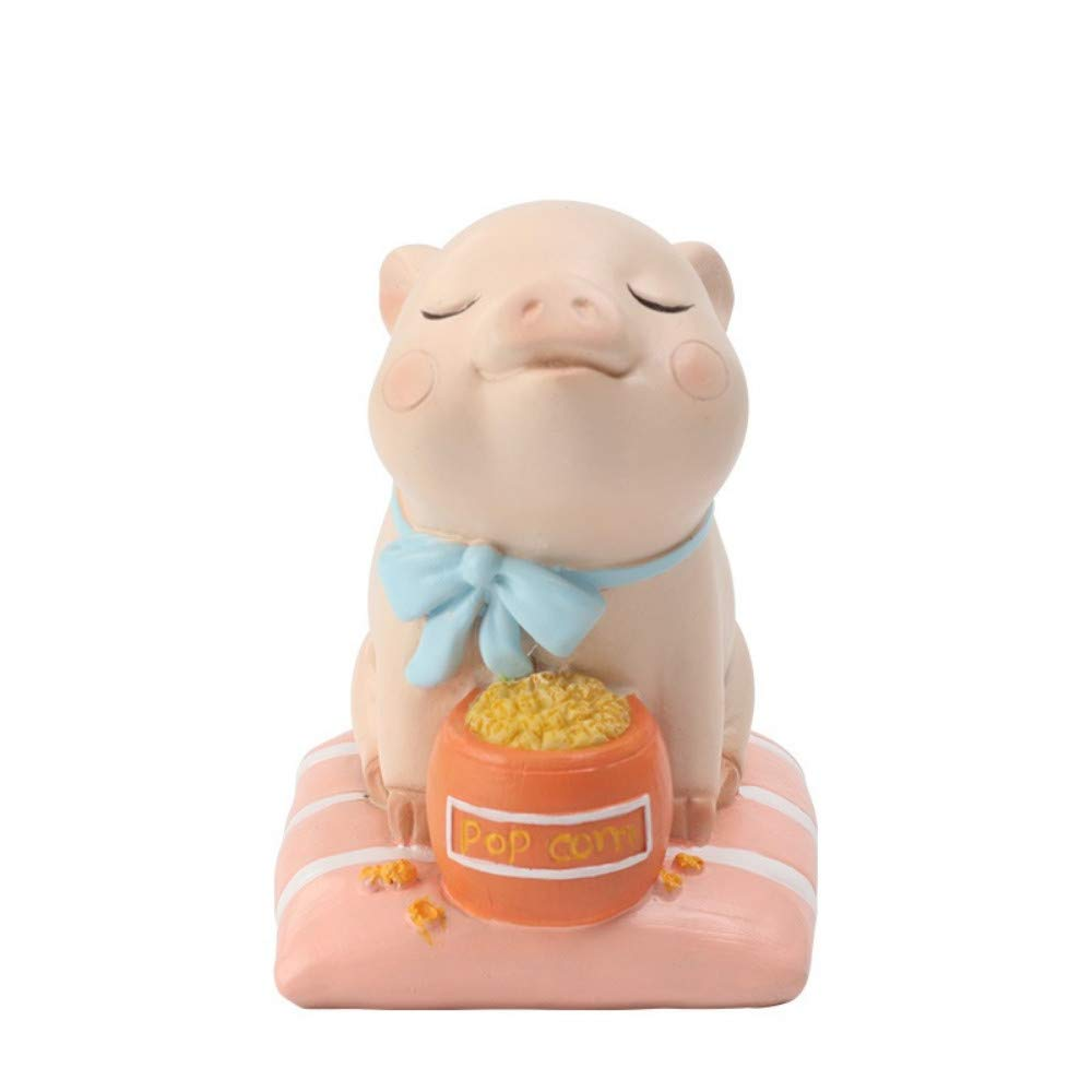 2 JIAHUADE Creative Home Accessories Cartoon Pig New Year Gift Desktop Cute Resin Crafts,2