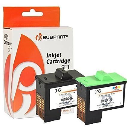 2 cartuchos de tinta compatibles con Lexmark 16 + 26 I3 X1100 ...