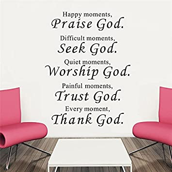 Amazon.com: FairyTeller Trust God Bless You Wall Stickers Quotes ...