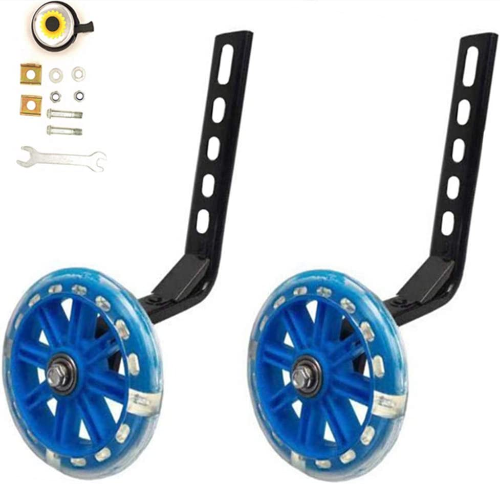 YJIA a Pair of Bicycle Mute Training Wheels for 12 14 16 18 20 inch Single Speed Bicycle stabilizer