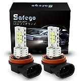 Safego Extremely Bright LED Fog Lights H8 H9 H11 LED Bulbs for Cars DRL or Fog Lamps, Xenon White FL-H11-H16-6D-2835-2
