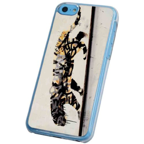 iphone 5C Banksy Grafitti Art Tiger Design Hülle Case Back Cover Metall und Kunststoff-Löschen Frame