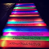 Personalized 16'' Custom Multicolor LED Foam Sticks, Customize the LED Glow Sticks with your own text or logo for a memorable celebration, 100 Pcs, Six Mode Lighting
