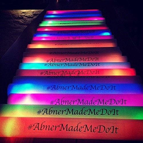 Personalized 16'' Custom Multicolor LED Foam Sticks, Customize the LED Glow Sticks with your own text or logo for a memorable celebration, 100 Pcs, Six Mode Lighting by Promotional Party Sticks (Image #9)