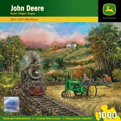 MasterPieces John Deere Green and Yellow Delivery Jigsaw Puzzle, Art by Ted Blaylock, 1000-Piece