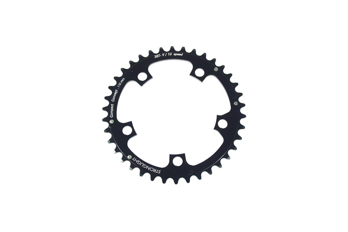 5083 series 5-Arm Road Black Chainrings 48T-50T Stronglight 110PCD Type S
