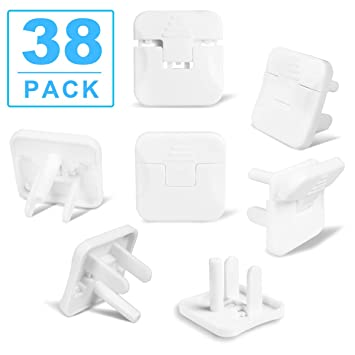 5 Plug Socket Covers Security Kids Proof Safety Protector Guard Mains Electrical