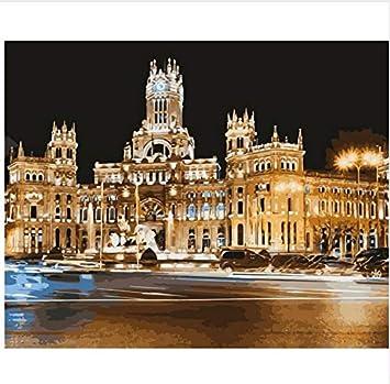 Pintura Al Óleo Sin Marco Madrid, Capital De España, Para Colorear ...