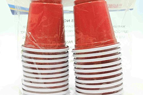 20 - 2 oz Home Store Mini Red Cups Plastic Shot Shooter Solo Party (Pack of 3)