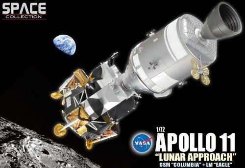 "Dragon Models 1/72 Apollo 11""Lunar Approach"" CSM""Columbia"" + LM""Eagle"" (Space) Dragon Models USA Inc. DRW-50375"