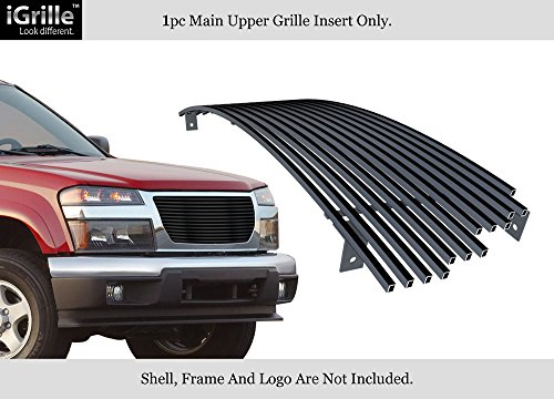 APS Compatible with 2004-2012 GMC Canyon Stainless Steel Black Billet Grille Insert G85474J