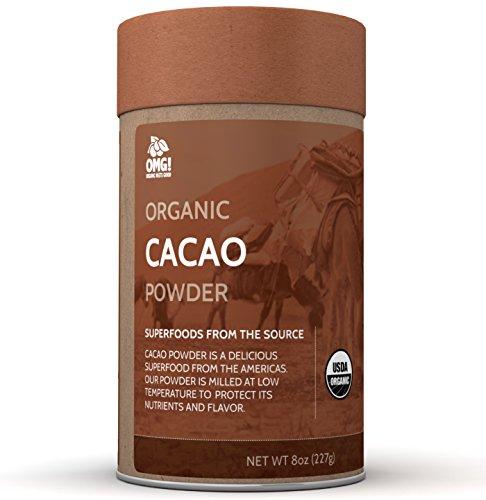 OMG! Superfoods Organic Cacao Powder - 100% Pure, USDA Certified Organic Cacao Powder – 8oz